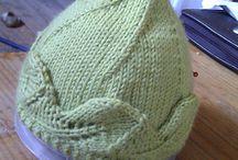 luer strikket heklet