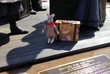 Trek, The Travelin' Rat / Trek is The Travelin' Rat's traveling rat! Trek was generously donated by Linda at The Crafty Rat to embark on a fantastic journey around the world to make people aware of who we are and what we do. This little ambassador has been able to educate individuals about the virtues of pet rats and the plight of animals in shelters and rescues.