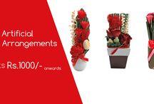 Decor Items / Get home decor items Like candles, artificial flower arrangement, Vase, Ceramic pot etc