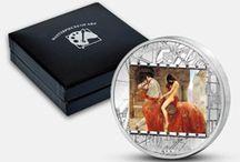 Umění / Slavná česká i světová umělecká díla můžete obdivovat i na překrásných mincích a medailích z drahých kovů - zlata a stříbra. Mince jsou často zdobené i drahými kameny nebo světoznámými křišťály Swarovski. #coins #art #numismatics