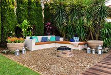 Back yard/ pool area