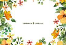 molduras  flores