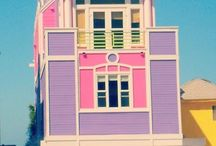Pink houses, cars & bikes