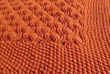 пледы  вязание