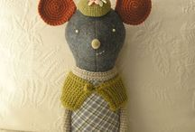 Creative, handmade toys. / Knitted, sown, stitched, painted and whatever works to make each toy individual.