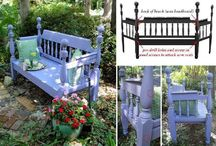 Repurposed Furniture - Benches / Turning furniture into benches.