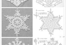 Kerst / Crocket snowflakes