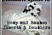Hemp and Bamboo Cloth Diaper Inserts / Learn how bamboo and hemp work in a cloth diaper, how to prep them and read reviews.