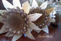 fiori creativi / I fiori, uno degli elementi decorativi per eccellenza, realizzati in tutti i modi creativi, con ogni materiale, tecnica, stile.