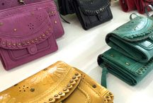 Colorful Leather Bags & Wallets