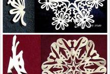 Papierowe wycinanki serwetki sniezynki