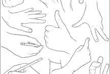 mãos desenho