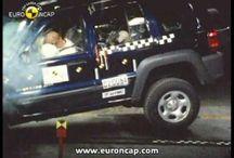 Crash testing a Jeep Cherokee