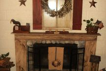 Fireplace Mantel Decor / by Sharon Boyd