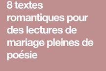 Textes de mariage