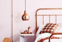 Rose gold pink &grey