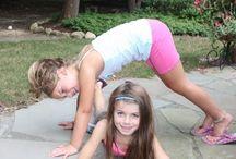 Kids partner yoga