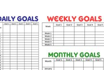 Goals Check lists/ Goal planner pages