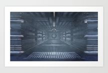 Sci Fi Art & Concepts / Space and sci-fi art I created in a variety of products.