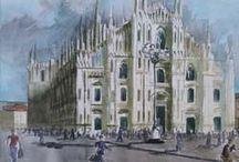 GLOBAL ARTE: CIUDADES DE ITALIA-Acuarelas Pablo Romero / Acuarelas de ciudades de Italia
