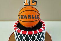 Gâteau anniversaire thème basket