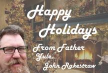 Happy Holidays! / Schedule your event with an EXTRAORDINARY Real Bearded Father Yule | Father Christmas | Santa Claus to appear at your company holiday party, community event, home party or on TV or LIVE streaming video (Skype or Google Hangout On Air)?