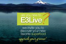 New To E3Live?  Start Here! / Wondering what E3Live is and how it can help you?  Learn more here:  http://www.e3live.com/new_user/welcome.html  Looking for great E3 Recipes?  Visit our recipe board here on Pinterest or visit our website:  www.e3live.com/recipes