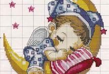 punto de cruz (natalicios)