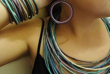 Zingy B Re-cycled Flip Flop Jewellery / Fun and funky Bangles, earrings and necklaces made from re-cycled Flip Flop tube.