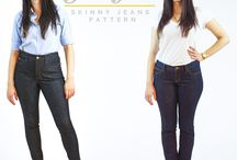 Ginger Jeans / Examples of jeans made using the Ginger Jeans pattern and fabric choice ideas