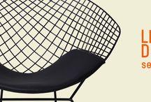 Chaises design en acier / Inspiration Wire Side Chair - Bertoia et DKR - Eames En vente sur http://www.meublesetdesign.com/ Découvrez notre article sur le sujet sur notre blog : http://www.meublesetdesign.com/fr/le-design-de-l-air-selon-bertoia