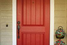 Meredith's Orange Doors & Porches