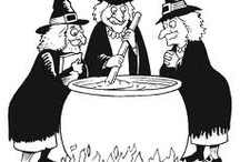 Witches Storytime / Wild and cackling witches soaring on broomsticks before the moon…