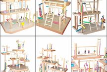 bird inspiration / playgyms, cages, toys, stands, materials and more. Just to get the ideas flowing.