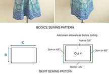 sew what / sewing patterns and examples of the cloths that can be created from them.