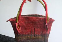 Felted hand bags