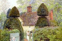 victorian artists cottages and garden