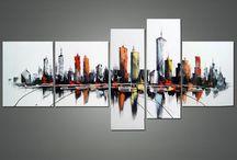 Arte Abstracto, Cuadros y Tripticos