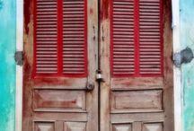 Behind doors...