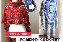 ponchos crochet que amo
