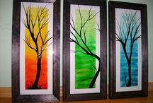 Üvegfestés/glass painting / Saját alkotások.