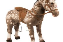 """Stable Horses / Rockin' Rider Stable Horses feature a realistic horse pattern printed on super soft plush.  They sing the """"I'm a Little Pony"""" song and interactive elements that activate several realistic horse sounds!"""