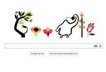 Google'dan ilkbahar Doodle'ı