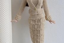 roupas de boneca de croche