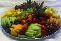Bandeja com frutas/decoração.