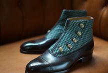 scarpe uomo verde