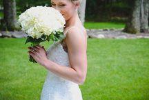 Ashley & Matthew / Yellow and white wedding flowers