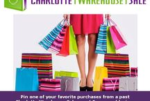 Win a $50 Charlotte Warehouse Sale gift certificate! / Win $50 Shopping $ for our next event - Wednesday 11/11 - Sunday 11/15 where you will find over 7,000 items of women's overstock, name brand clothing & shoes at 65-90% off retail! To enter, pin a picture of a favorite purchase from any of our previous events and tell us the brand (and price info too if you remember it)!