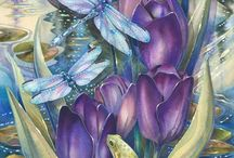 Бабочки живопись