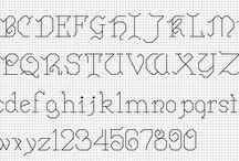 Cross stich alphabet